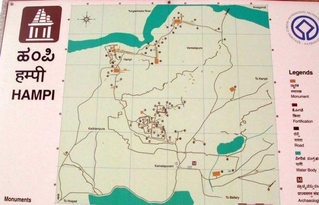 Карта Хампі