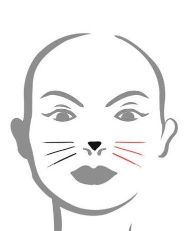 як на обличчі намалювати кішку