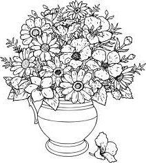 Фото - Як намалювати квітку у вазі олівцем