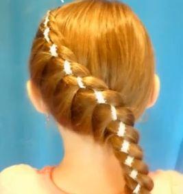 Фото - Як плести коси зі стрічкою самостійно