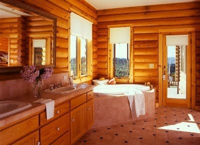 Фото - Як правильно оформити ванні кімнати в дерев'яних будинках