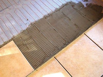 як зробити електрична тепла підлога