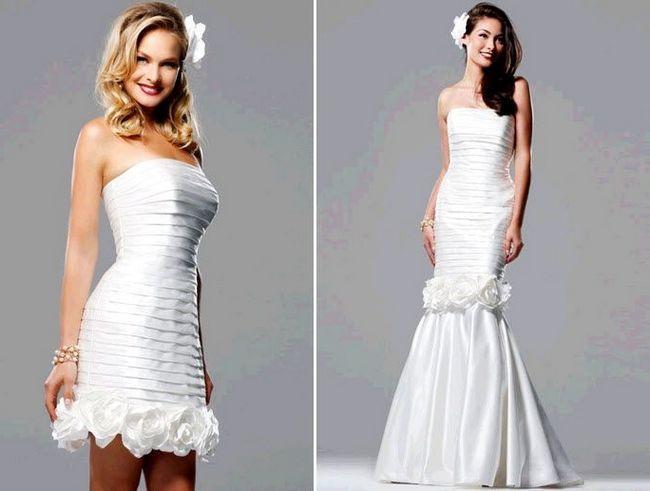 Фото - Оригінальна новинка - весільна сукня-трансформер
