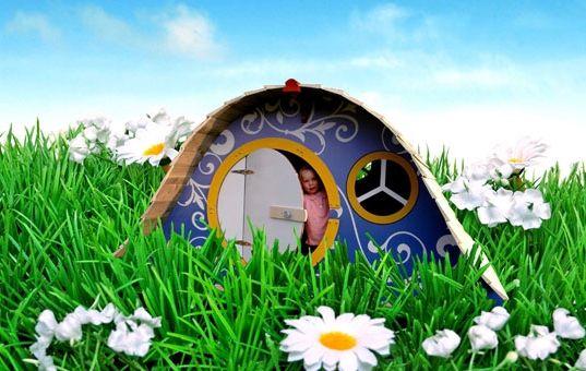 картонний будиночок для дітей
