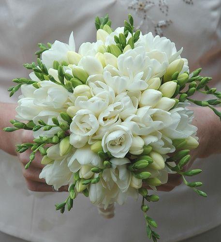 Фото - Весільний букет з фрезій підкреслить красу нареченої