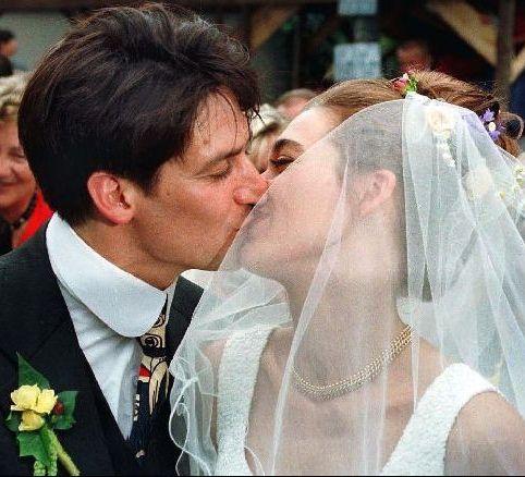 Тобіас Моретті (фото з дружиною)