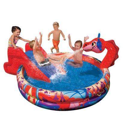 дитячий надувний басейн з гіркою