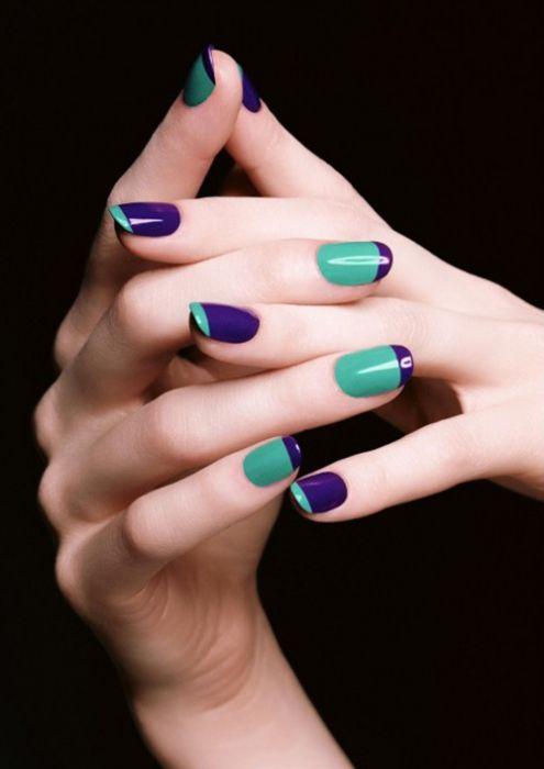 Фото - Кольоровий фіолетовий манікюр - писк сезону