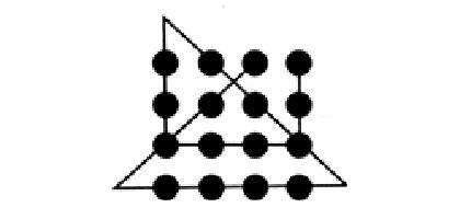 з'єднати 9 точок 4 лініями