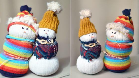 Фото - Як зробити з носка сніговика? Дізнаємося!