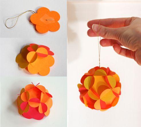 Фото - Як зробити кульку з паперу своїми руками? Паперові кулі на новий рік