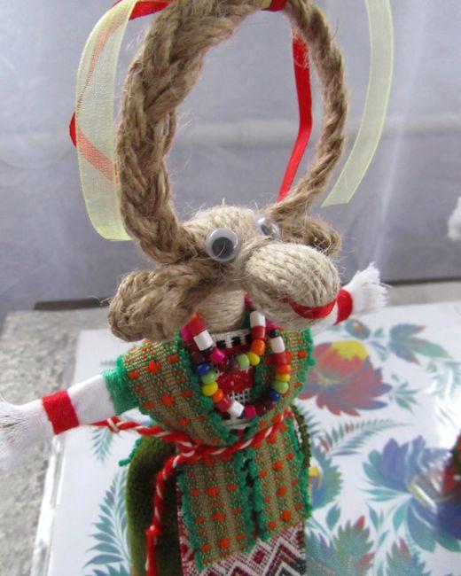 Фото - Коза з шпагату: майстер-клас. Падалка з шпагату новорічні