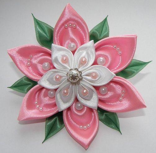 майстер клас квітки з атласної стрічки