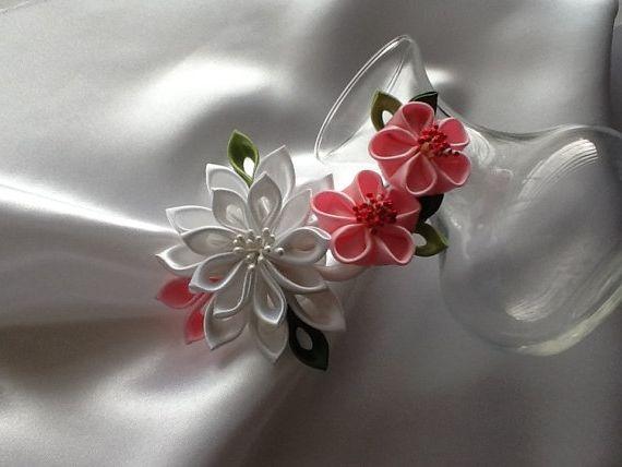 квітки з атласних стрічок своїми руками майстер клас