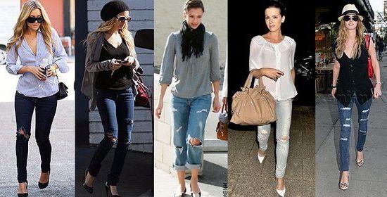Фото - Рвані джинси: з чим носити. Ідеї   та фото образів