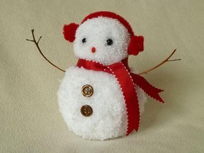 Фото - Сніговик з помпонів своїми руками: майстер-клас зі створення
