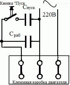 Фото - Трифазний двигун в однофазної мережі. Схема підключення трифазного двигуна