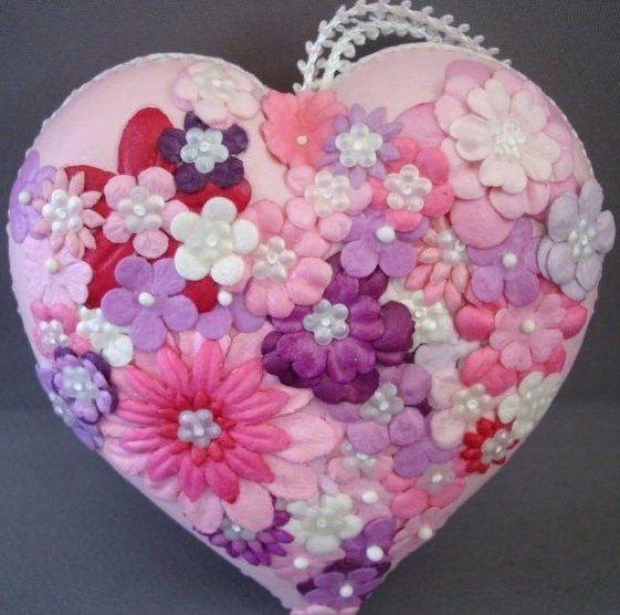 Фото - Валентинки своїми руками з тканини: майстер-клас, викрійки, фото